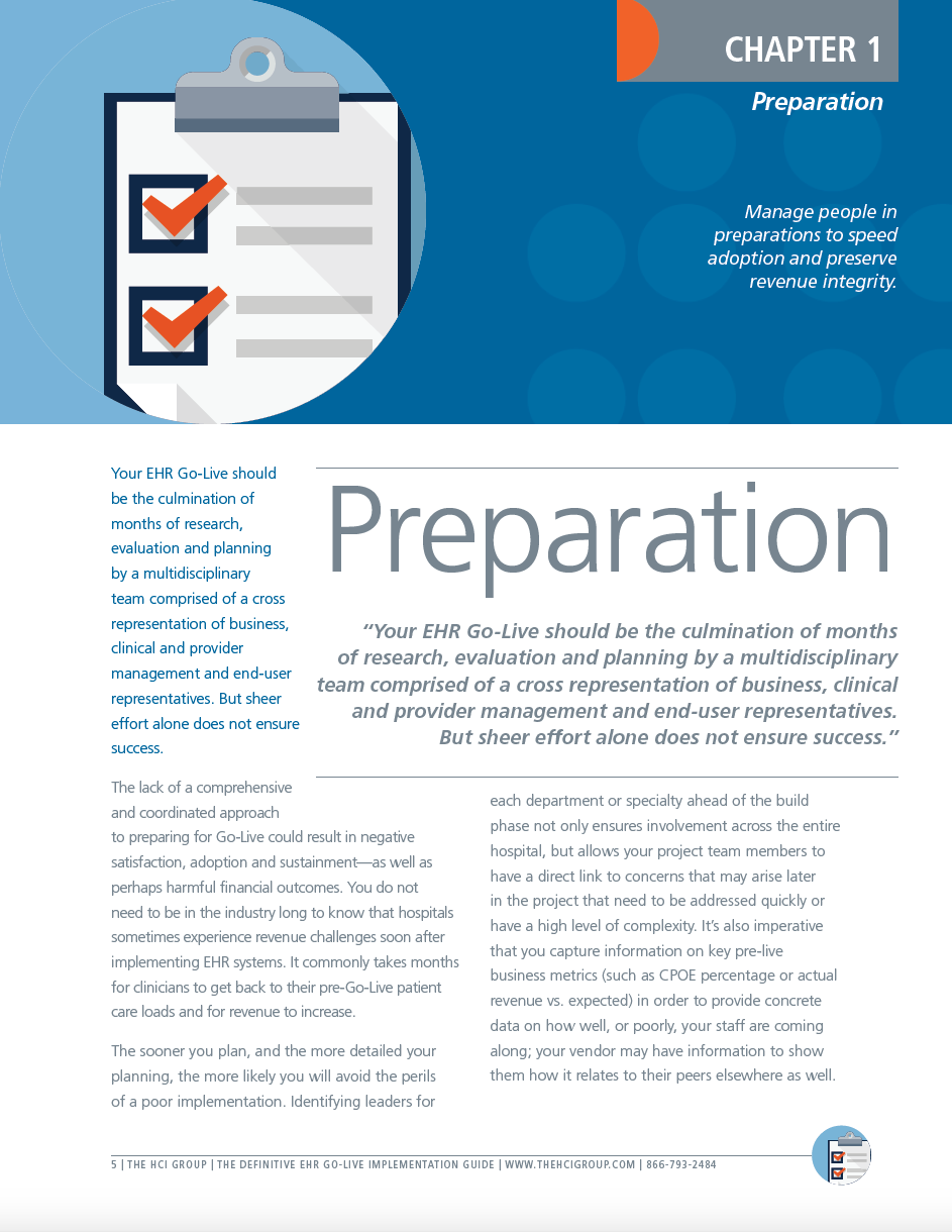 The HCI Group EHR Go-Live eBook Guide Chapter 1